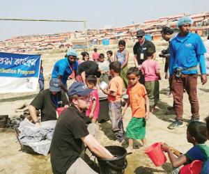 Bidyanondo brings tasty nutrition to Rohingya children