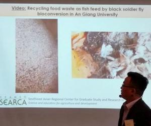 SEARCA Grantee Presents Research on Food Waste Management and Recycling Strategies for Fish Feed at Agri4D
