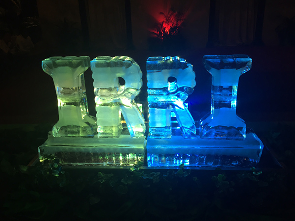 During the welcome dinner hosted by the Cambodian Ministry of Agriculture, Forestry and Fisheries, a two-foot tall ice sculpture of IRRI served as the venue centerpiece.