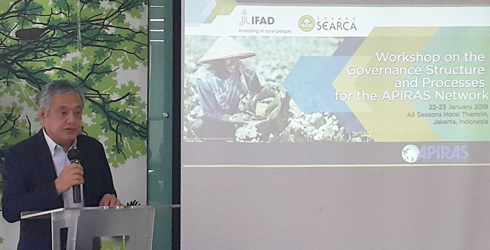 searca director opens ifad funded asia pacific regional workshop 01