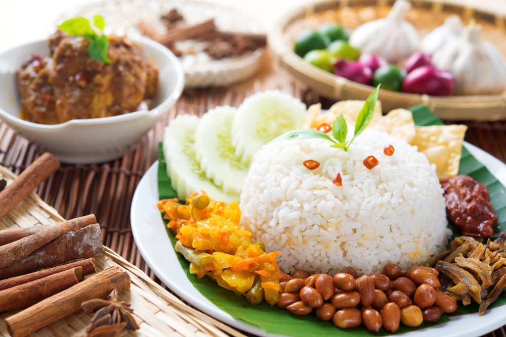 "Malaysia's national dish is nasi lemak – translating literally as ""fatty rice"". Source: Shutterstock"