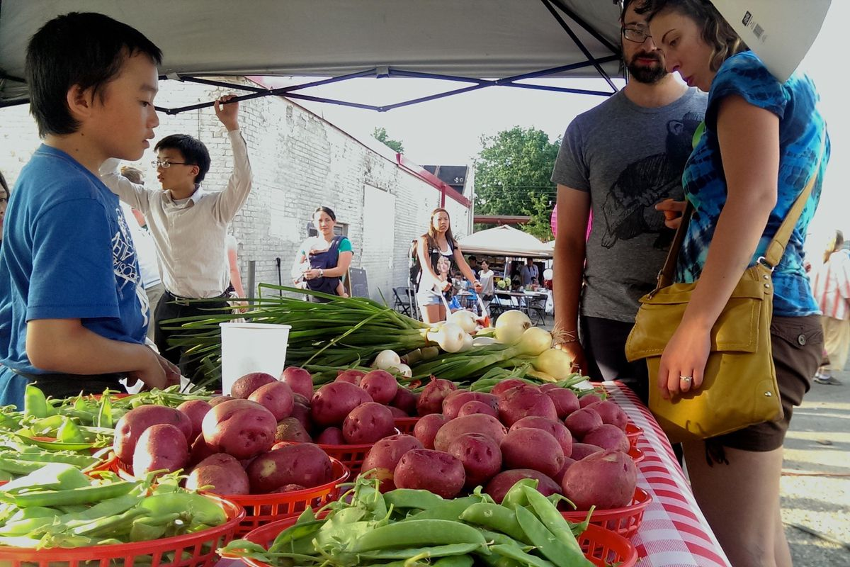 Food-oriented design is helping communities across the nation grow equitably. In St. Paul, the Little Mekong Night Market offers local produce and traditional southeast Asian foods. Courtesy Asian Economic Development Association
