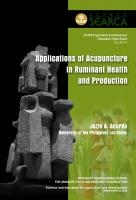 Applications of Acupuncture in Ruminant Health and Production