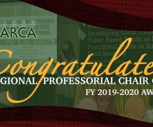 SEARCA awards outstanding academicians with Regional Professorial Chair Grants