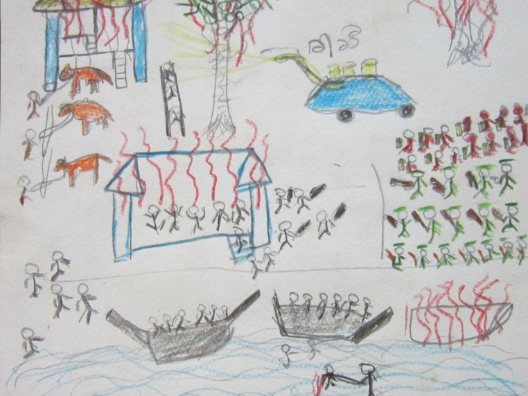 Child's View Of Burma's Horror: By Shashida,18-year-old woman from Kyuak Phuyuh: 'The mosque was also attacked. People ran to their boats but some were set on fire.'
