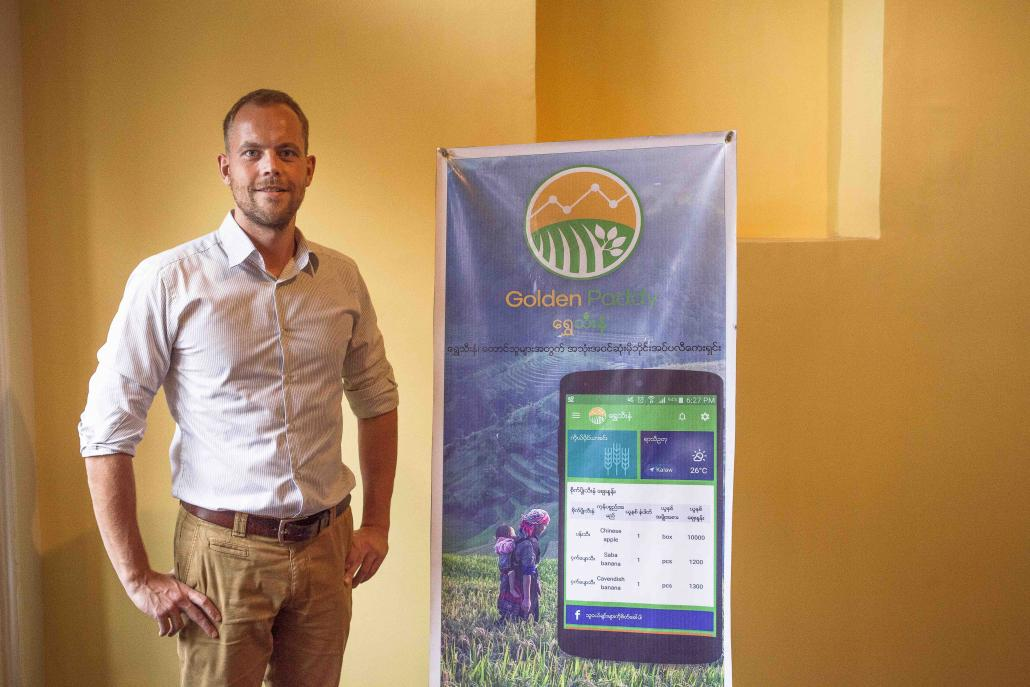 Mr Erwin Sikma quit his job with a business consultancy in Myanmar to found Impact Terra, a social enterprise that has developed the Golden Paddy application. (Theint Mon Soe aka J | Frontier)