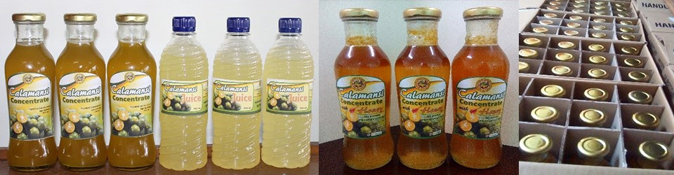 The VKFF farmers' primary processed products: calamansi concentrate and RTD juice
