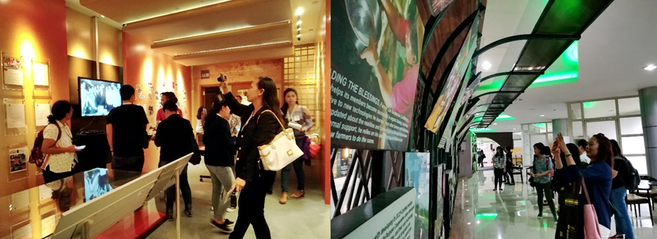 Study visit at the Knowledge Hub and Library in ADB (left photo) and the Learning and Discovery Center in ATI (right photo) on 11 January 2018.