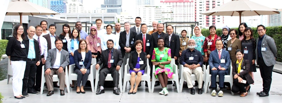 SEARCA Key Personnel, IFAD SAAS Project Partners, Sub-Regional Networks in Asia and the Pacific, and Technical Institutions in Southeast Asia during the Best Practices in AAS in Asia and the Pacific Islands: A Regional Learning Event and Experience Sharing held on 30 - 31 July 2018 at Centara Watergate Pavilion Hotel in Bangkok, Thailand.