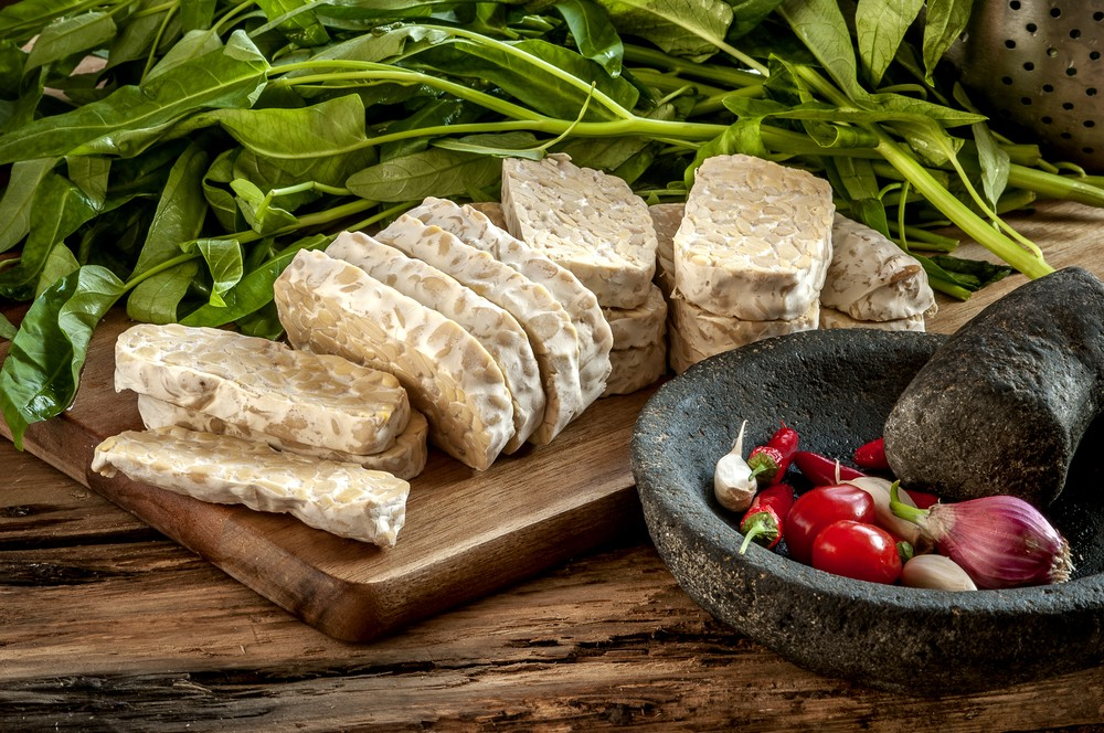 The popular Indonesian food tempeh. (Shutterstock/Arif Relano Oba)