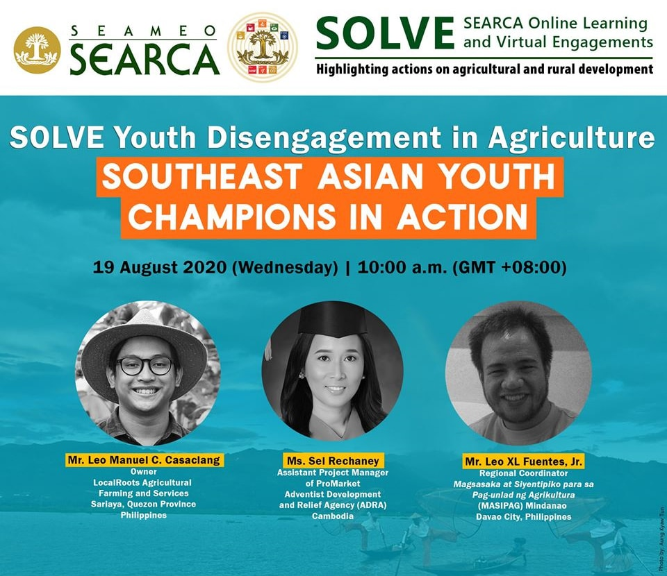searca august webinar series youth initiatives farming food security 01