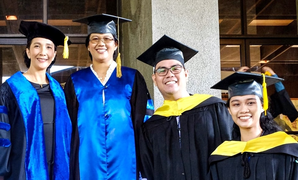 SEARCA scholars during their graduate recognition and hooding ceremony at the University of the Philippines Los Baños.