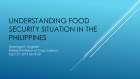 ICrops Seminar Series: Understanding Food Security Situation in the Philippines