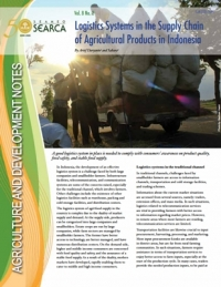 Logistics Systems in the Supply Chain of Agricultural Products in Indonesia