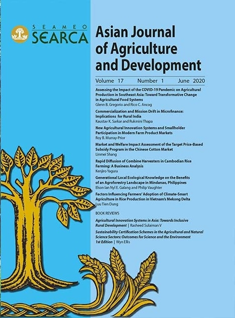 Asian Journal of Agriculture and Development Vol. 17 No. 1