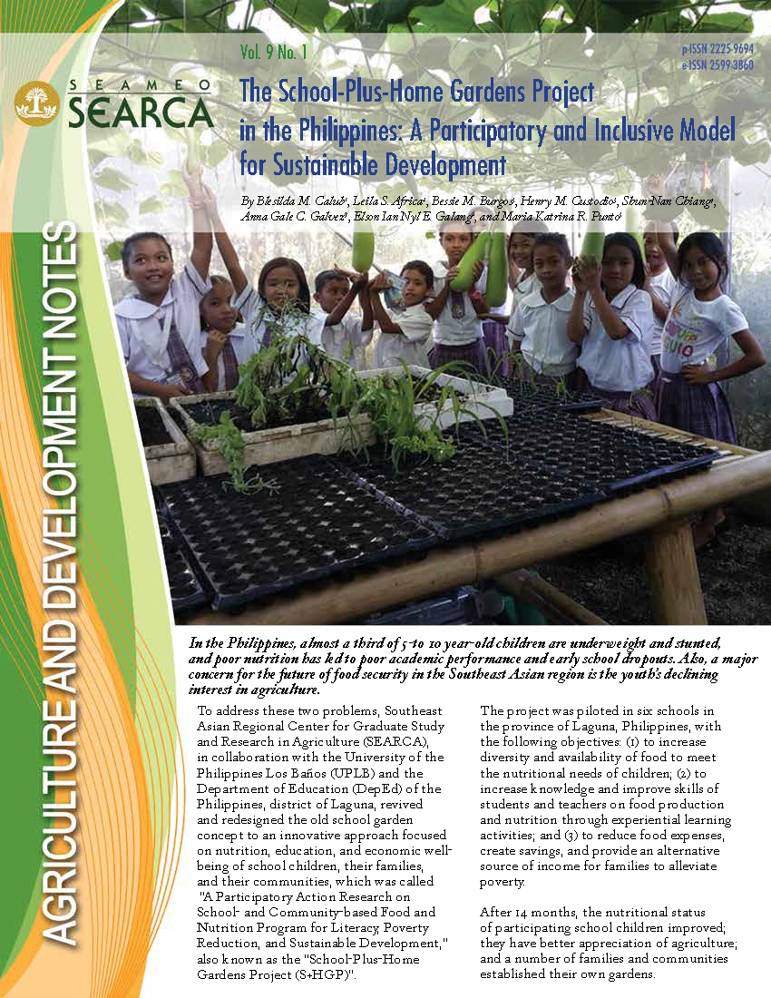 The School-Plus-Home Gardens Project in the Philippines: A Participatory and Inclusive Model for Sustainable Development